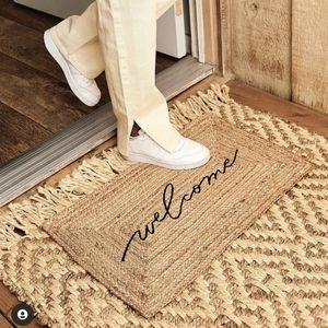 """Jute """"Welcome"""" mat"""